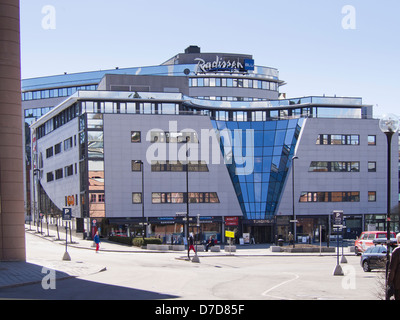 Radisson Blue hotel in Nydalen Oslo  Norway, modern architecture and accommodation in business district - Stock Photo