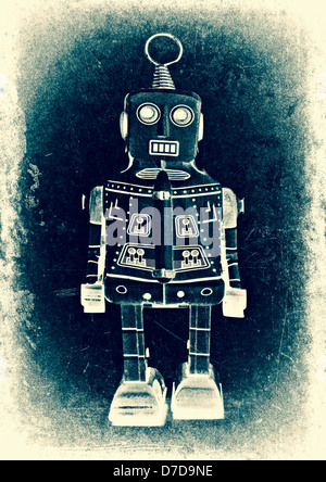 old robot (retro inspired image) - Stock Photo