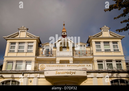 special historist style Architecture Baederarchitektur at the polish seaside resort Swinoujscie, Uznam Island, Poland, - Stock Photo