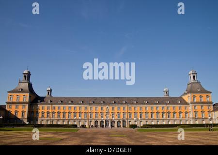 Hofgarten (Court Garden) with Kurfuerstliches Schloss (Electoral Prince's Castle), main building of the University - Stock Photo
