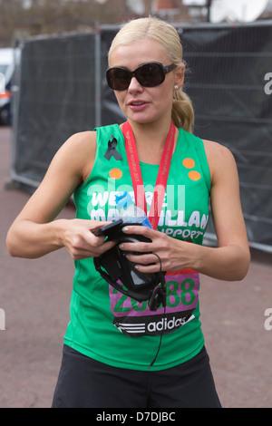 London Virgin Marathon 2013, Katherine Jenkins - Stock Photo