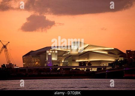 Adrienne Arsht Center for the Performing Arts in Downtown Miami, Florida, USA - Stock Photo