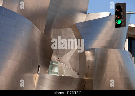 modern architecture by Frank Gehry, Walt Disney Concert Hall, Downtown Los Angeles, California, United States of - Stock Photo