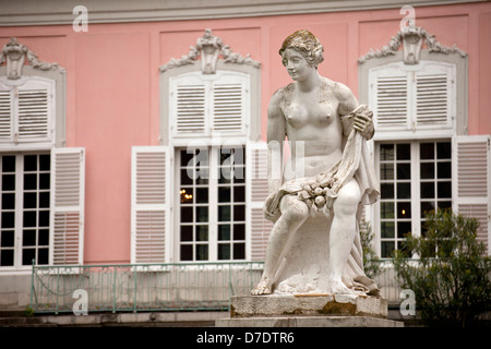 Statue in front of Benrath Palace, Duesseldorf, North Rhine-Westphalia, Germany, Europe - Stock Photo