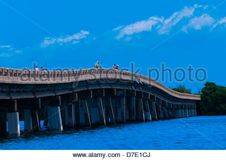 No Name Key Bridge, No Name Key, Florida Keys, Florida USA - Stock Photo