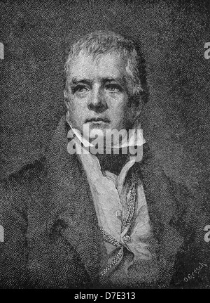 Scottish novelist and poet Sir Walter Scott is often credited as the inventor of the historical novel. - Stock Photo