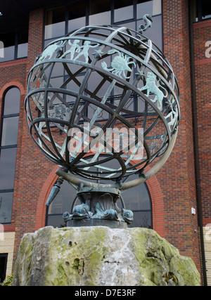 zodiac sundial southampton - Stock Photo