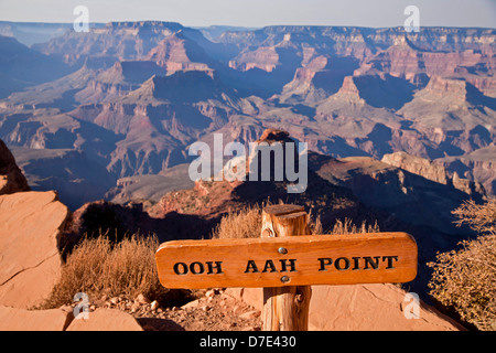 Ooh Aah Point on South Kaibab trail through Grand Canyon National Park, Arizona, United States of America, USA - Stock Photo