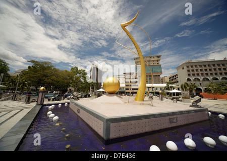 Monument on the river in the capital city, Bandar Seri Begawan, Brunei, Asia - Stock Photo