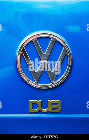 VW Chrome Dub badge abstract - Stock Photo