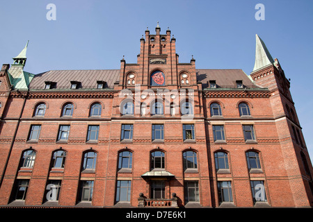 Sandthorquaihof in the Speicherstadt district, Free and Hanseatic City of Hamburg, Germany, Europe - Stock Photo