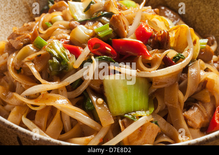 Char Kway Teow, Malaysian fried noodles - Stock Photo