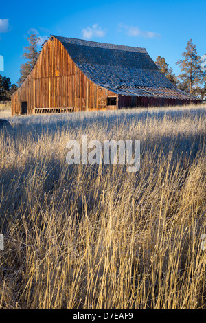 Dilapidated barn building in the bend area of central for Barn builders oregon