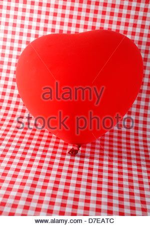 Close-up of a heart shape balloon - Stock Photo