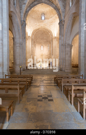 The chancel of St. Anne's Crusader Church in Jerusalem, Israel - Stock Photo