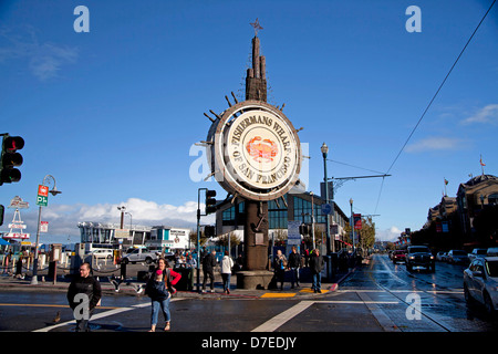 sign Fishermans Wharf in San Francisco, California, United States of America, USA - Stock Photo