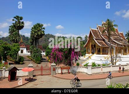 Haw Pha Bang Temple and Royal Palace Museum, Luang Prabang, Laos - Stock Photo