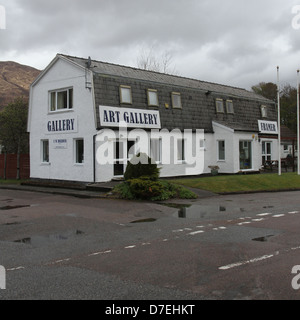 Art Gallery North Ballachulish Scotland  April 2013 - Stock Photo