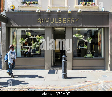 9777b9e1fcd Mulberry shop selling expensive handbags, Covent Garden, London - Stock  Photo