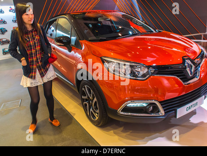 Paris, France, Renault Corporation, New Car Showroom, Inside Store, 'Captur' chinese shopping - Stock Photo