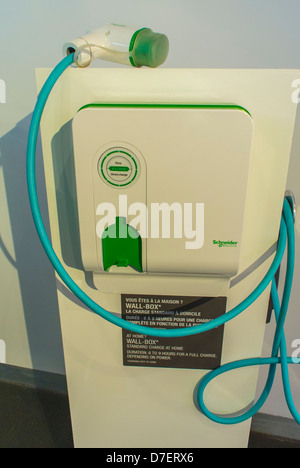 Paris, France, Renault Corporation, New Car Showroom, Inside Store,  Home Electric Car Charger, global green economy - Stock Photo