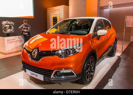 Paris, France, Renault Corporation, New Car Showroom, Inside Store, 'Captur' - Stock Photo