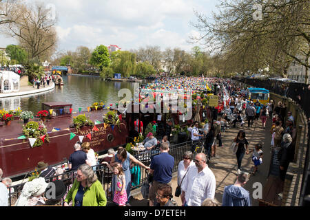 Little Venice, London, UK. 6th May, 2013. Canalway Cavalcade a waterway festival that has taken place at Little - Stock Photo
