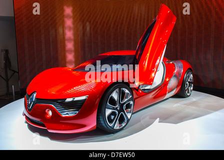 Paris, France, Renault Corporation, New Car Showroom, global green economy concept - Stock Photo