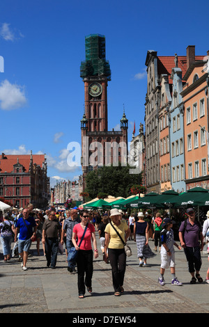Gdansk, Long Market, Dlugi Targ, Langer Markt, Tourist, Poland - Stock Photo