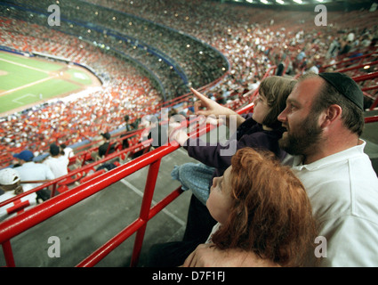 Shea Stadium on Jewish Heritage Day on August 26, 2001. (© Richard B. Levine) - Stock Photo