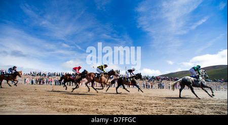 Glenbeigh Races Rossbeigh Beach, Kerry, Ireland - Stock Photo