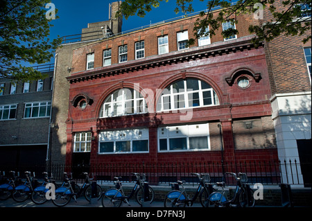 The disused London Underground Brompton Road Station on the Piccadilly  Line, London, UK - Stock Photo