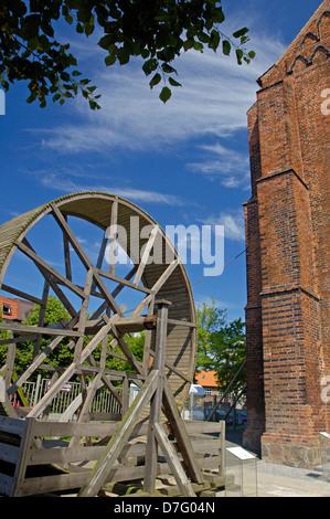 Germany, Mecklenburg-West Pomerania, Wismar, church, Saint Marien - Stock Photo
