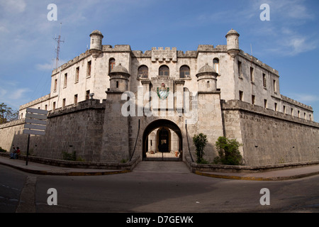 fortress Castillo de la Real Fuerza in the old town of Havana, Cuba, Caribbean - Stock Photo