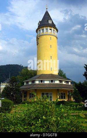 Deutschland, Germany, Rheinland-Pfalz, Bad Ems, Wasserturm, water-tower - Stock Photo