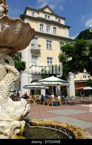 Germany, Rheinland-Pfalz, Bad Ems, Kurhaus, castle, palais, spa - Stock Photo
