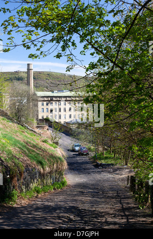 Dean Clough mills, Halifax, West Yorkshire - Stock Photo