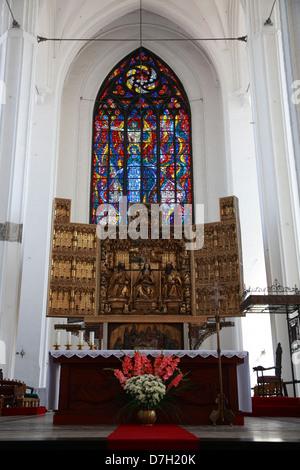 Gdansk, St.Mary's Church, main Altar, Poland - Stock Photo