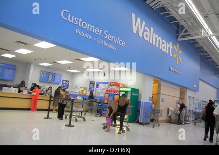 Miami Florida Walmart service desk customers employees Stock Photo ...