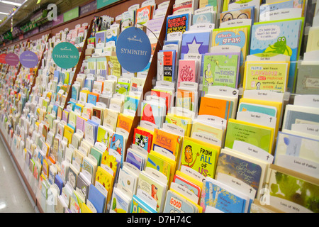 Hallmark greeting cards on display at a walgreens flagship store miami beach florida walgreens pharmacy drugstore shopping retail display shelves for sale greeting cards hallmark m4hsunfo