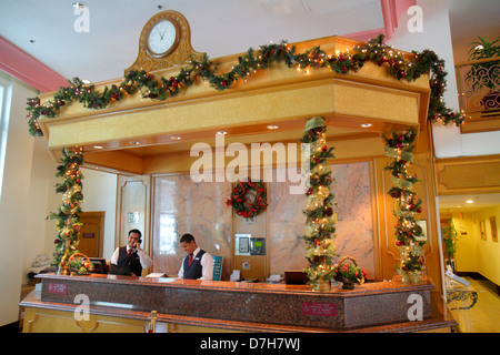 Florida, FL, South, Miami Beach, SoBe, Collins Avenue, Hotel Florida Beach, RIU Hotels and & Resorts, lobby, front - Stock Photo