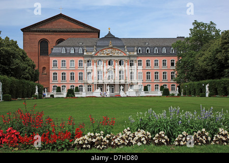 Germany, Rhineland-Palatinate, Moselle Valley, Trier, Electoral Palace, built 1757-1761 - Stock Photo
