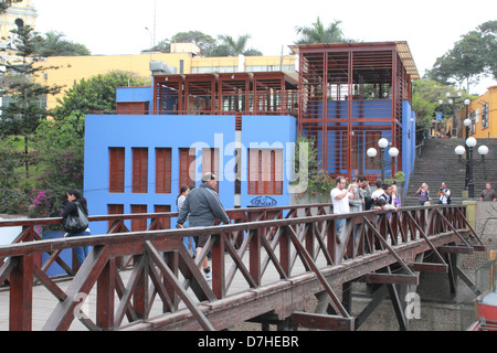 Peru Lima Barranco Puente de los Suspiros bridge of sighs