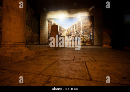 Israel, Jerusalem old city, Interior of the reconstructed Cardo in the Jewish quarters - Stock Photo