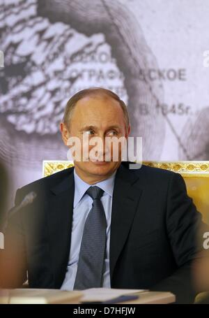 April 30, 2013 - St. Petersburg, Russia - April 30,2013. Pictured: President Vladimir Putin at the Russian Geographical - Stock Photo