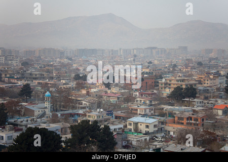 view on the city of Kabul, Afghanistan. - Stock Photo