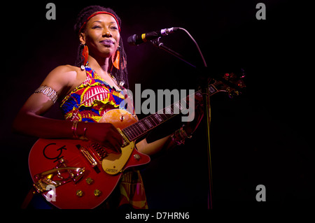Fatoumata Diawara performs at Africa Express, Solus, 6th September 2012. CARDIFF, UK. - Stock Photo