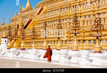 Shwezigon Paya, Bagan, Burma (Myanmar) - Stock Photo