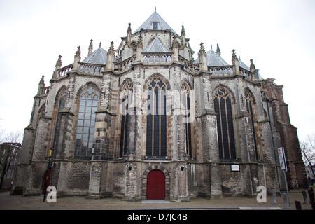 'Grote kerk' (big church) in Dordrecht, Netherlands - Stock Photo