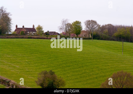Large Country Detached House In The East Sussex Countryside Near Cripps Corner UK - Stock Photo